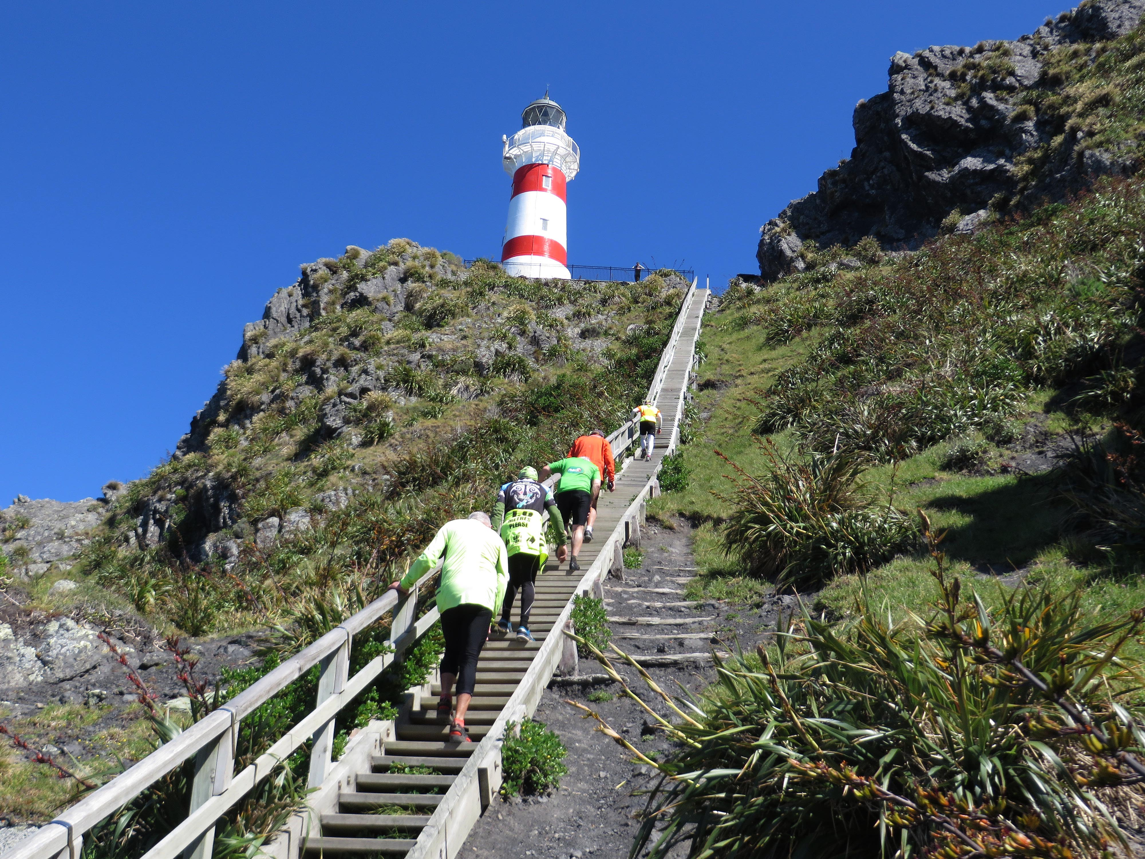 Climbing to the lighthouse