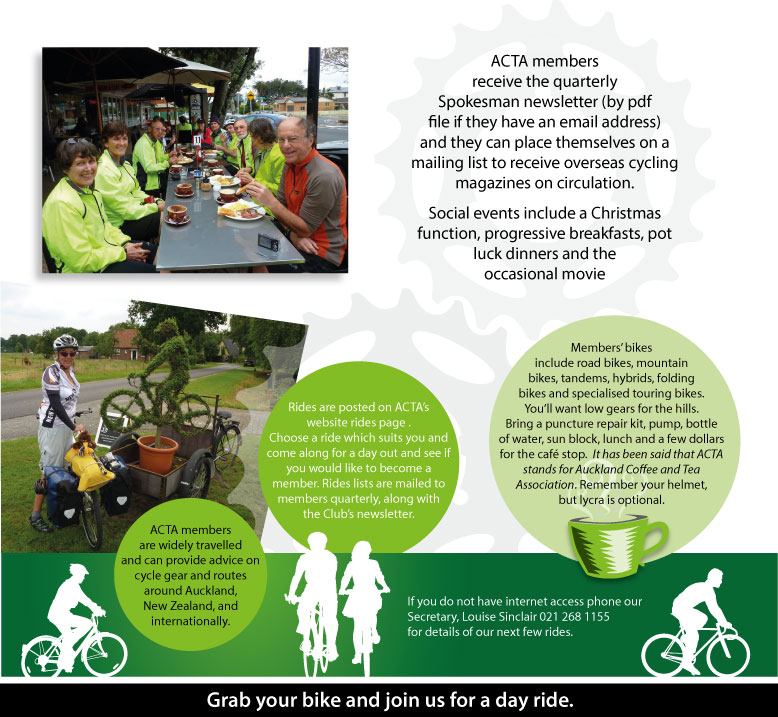 Auckland Cycle Touring Association Flyer
