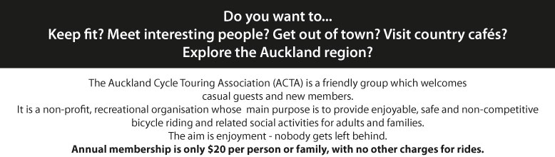 Auckland Cycle Touring Association Flyer intro